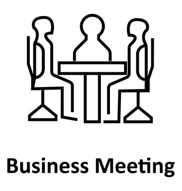 Business Meetings  Line Vector Isolated Icon editable