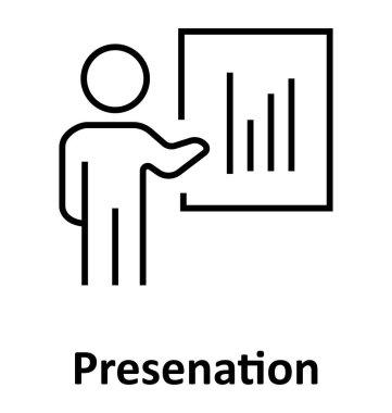 Presentation  Line Vector Isolated Icon editable