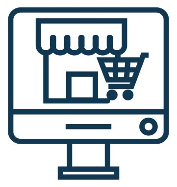 Online Marketplace Line Vector Icon Editable