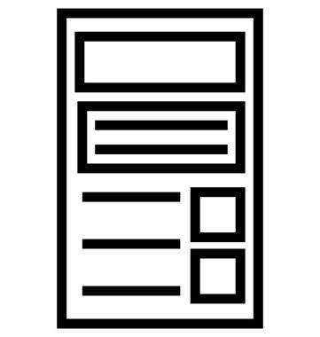 Website Template Line Vector Icon Editable
