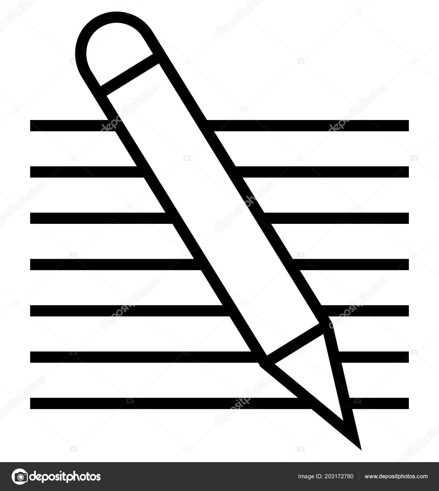 Writing Line Vector Icon Editable — Archivo Imágenes Vectoriales ...