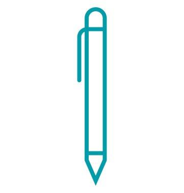Pen isolated Vector Icon Editable