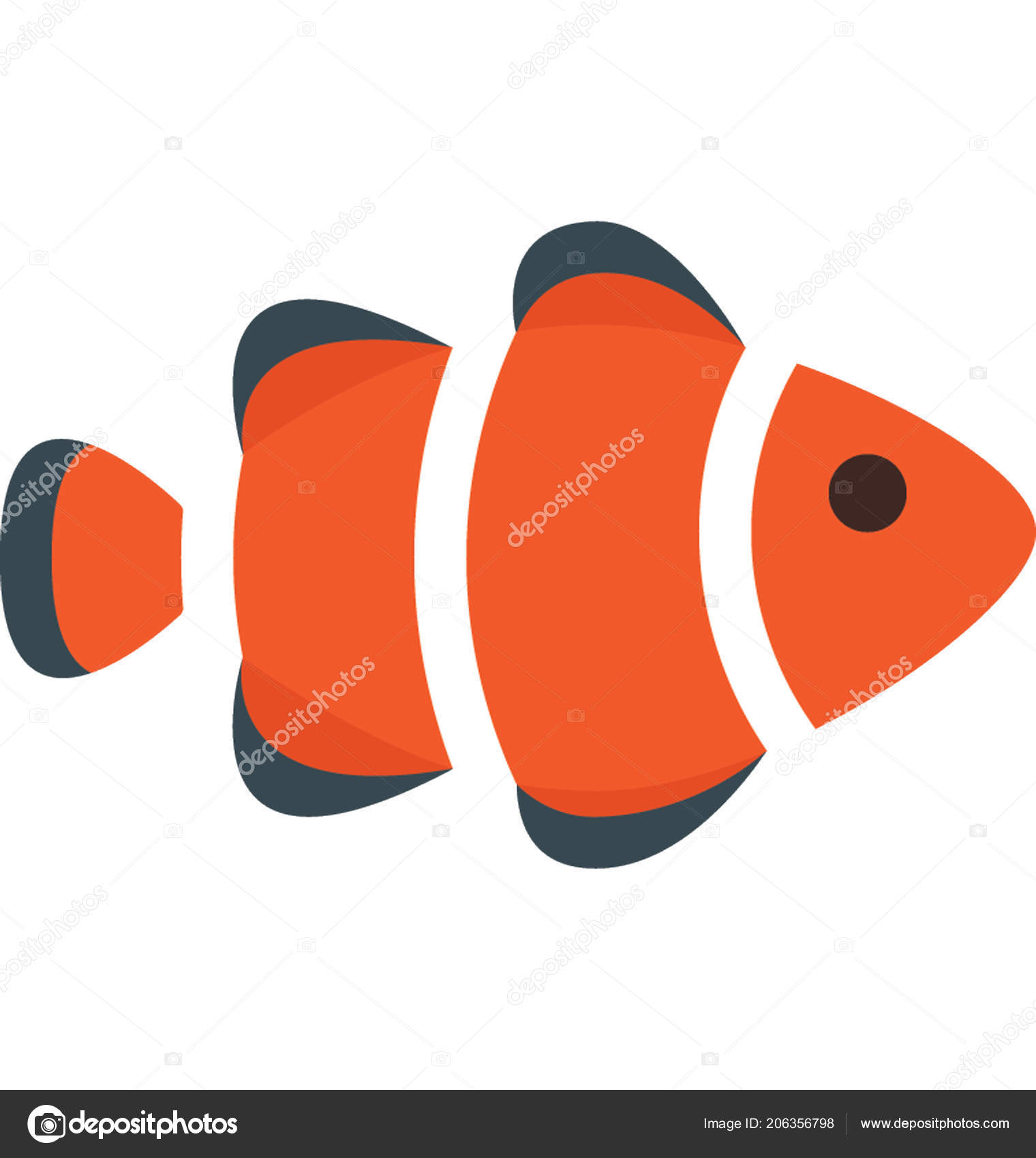 Fish Color Vector Isolated Illustration Icon — Stock Vector © azhar ...