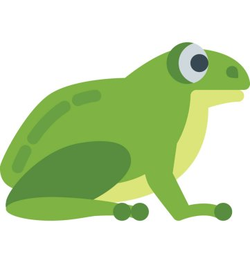 Frog Color Vector Isolated Illustration Icon
