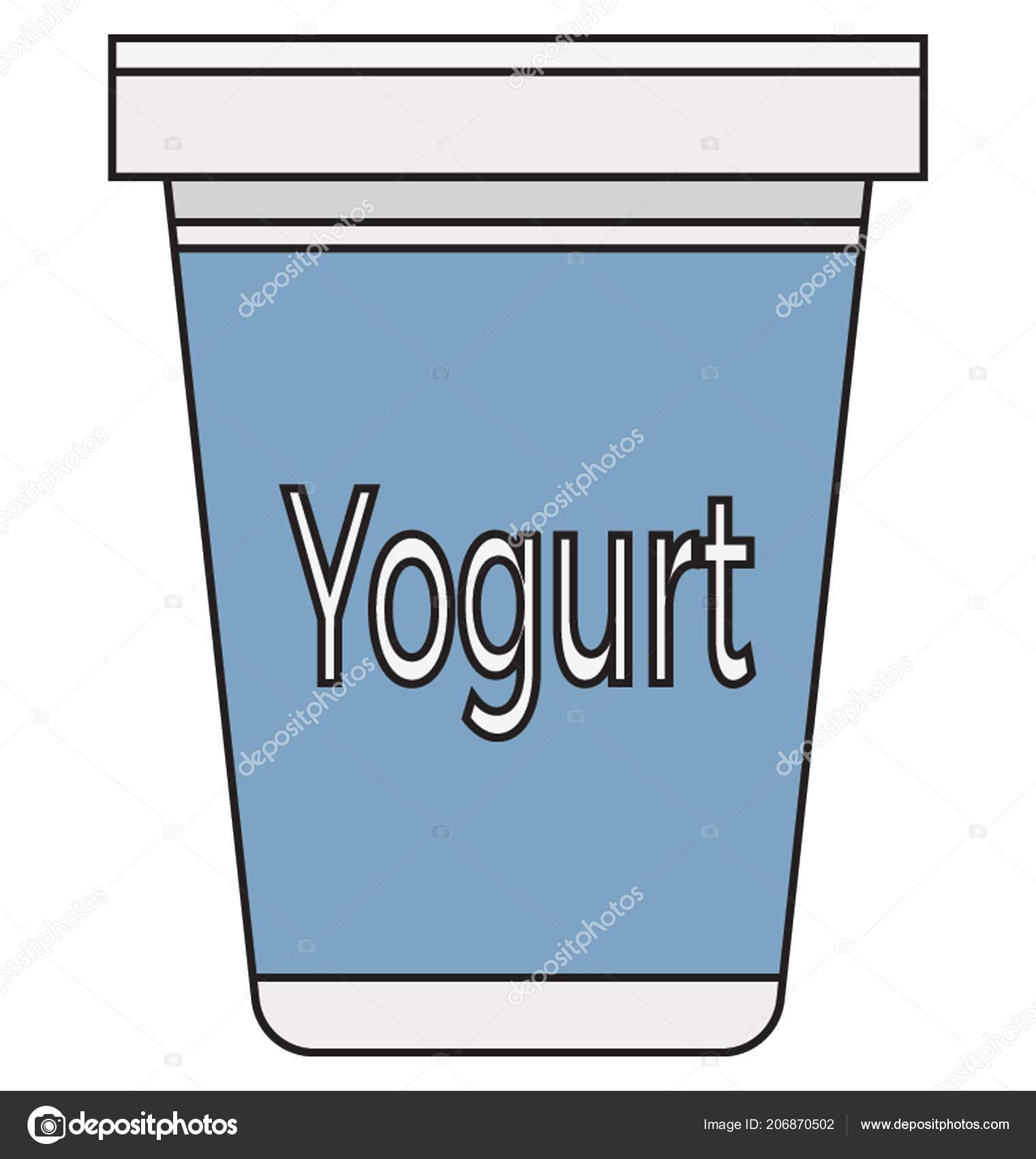 Frozen Yogurt Color Vector Illustration Isolated Fully Editable ...