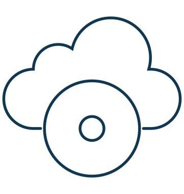 Cloud Multimedia Isolated Vector Icon Editable