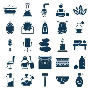 Beauty and Spa Vector Isolated Icons Editable