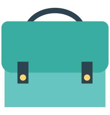 School Bag Isolated Vector Icon Editable