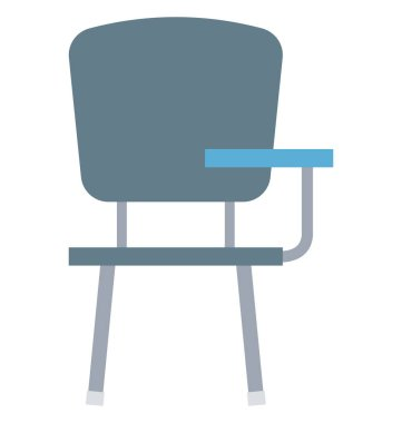 Student Chair Isolated Vector Icon Editable