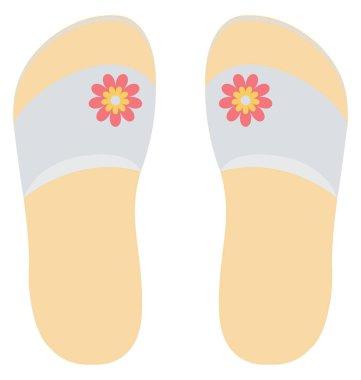 flip flops Vector Icon Editable