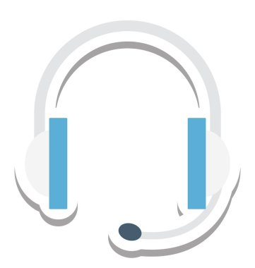 Headphone, Earbuds Vector Icon
