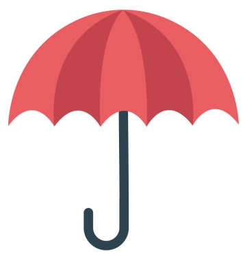 Umbrella, Sunshade Isolated Vector Icon