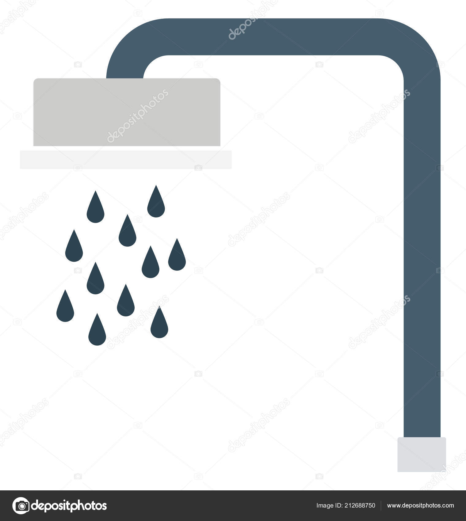 Shower Head Shower Isolated Vector Icons Can Modify Any Style
