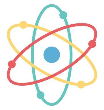 Atom, Molecule Vector Icon
