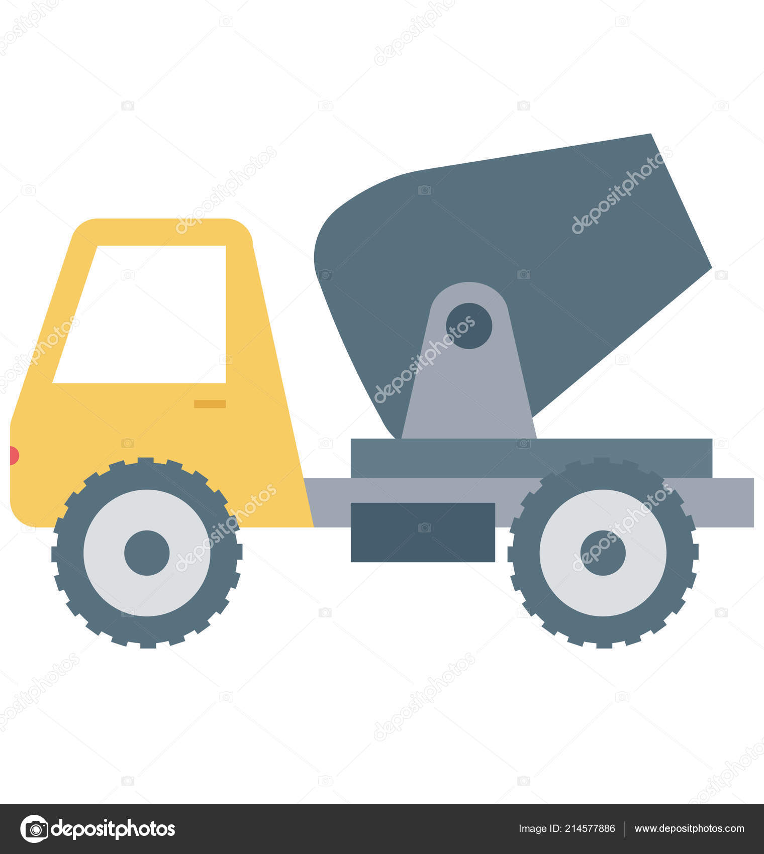 Concrete Buggy Isolated Vector Icon Construction — Stock