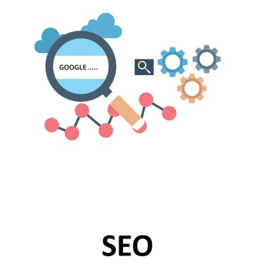 SEO Isolated Color Vector Illustration Icon