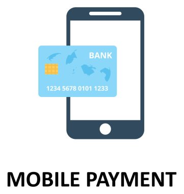 Mobile Payment Isolated Color Vector Illustration Icon