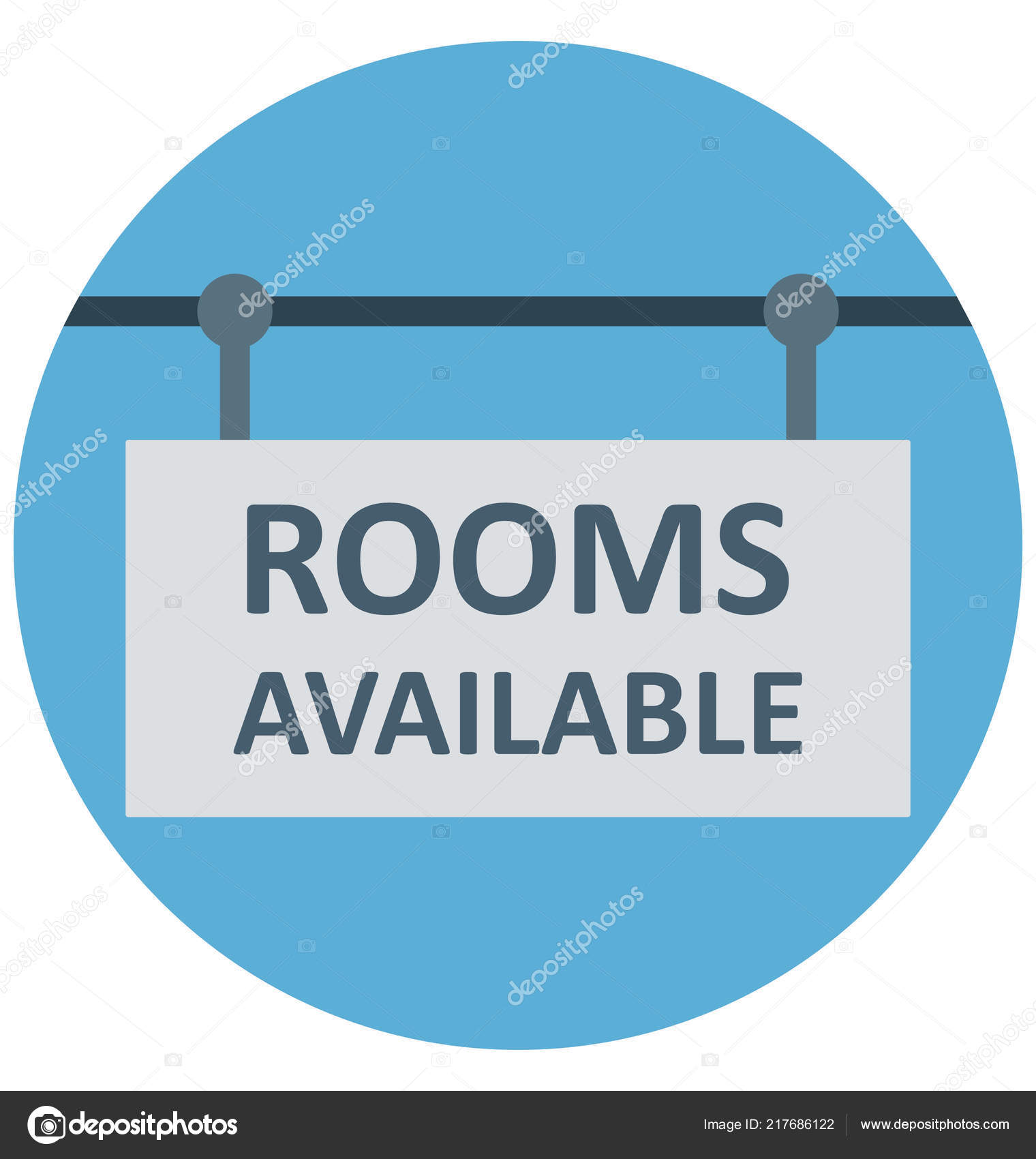 Rooms Available Illustration Color Vector Isolated Icon Easy ...