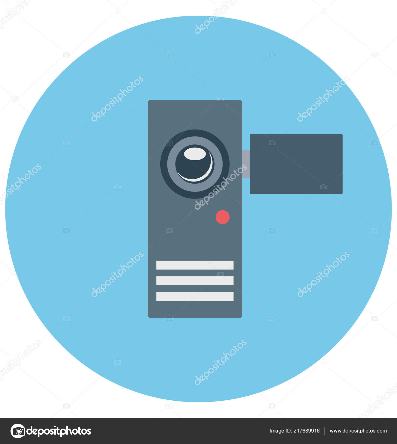 Camcorder Illustration Color Vector Isolated Icon Easy Editable ...
