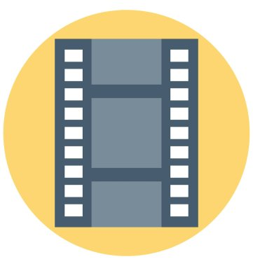 Film Strip Illustration Color Vector Isolated Icon easy editable and special use for Leisure,Travel and Tour