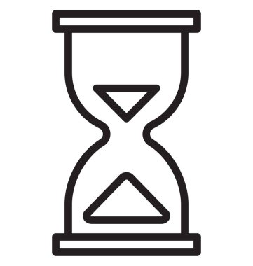 Deadline, hourglass Isolated Vector Icon can be easily edit and modify