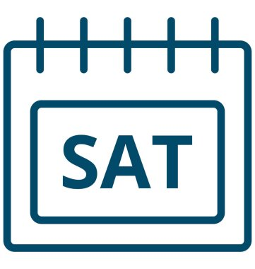Sat, saturday Special Event day Vector icon that can be easily modified or edit.