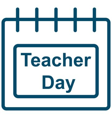 Teacher day, Teacher day calendar Special Event day Vector icon that can be easily modified or edit.