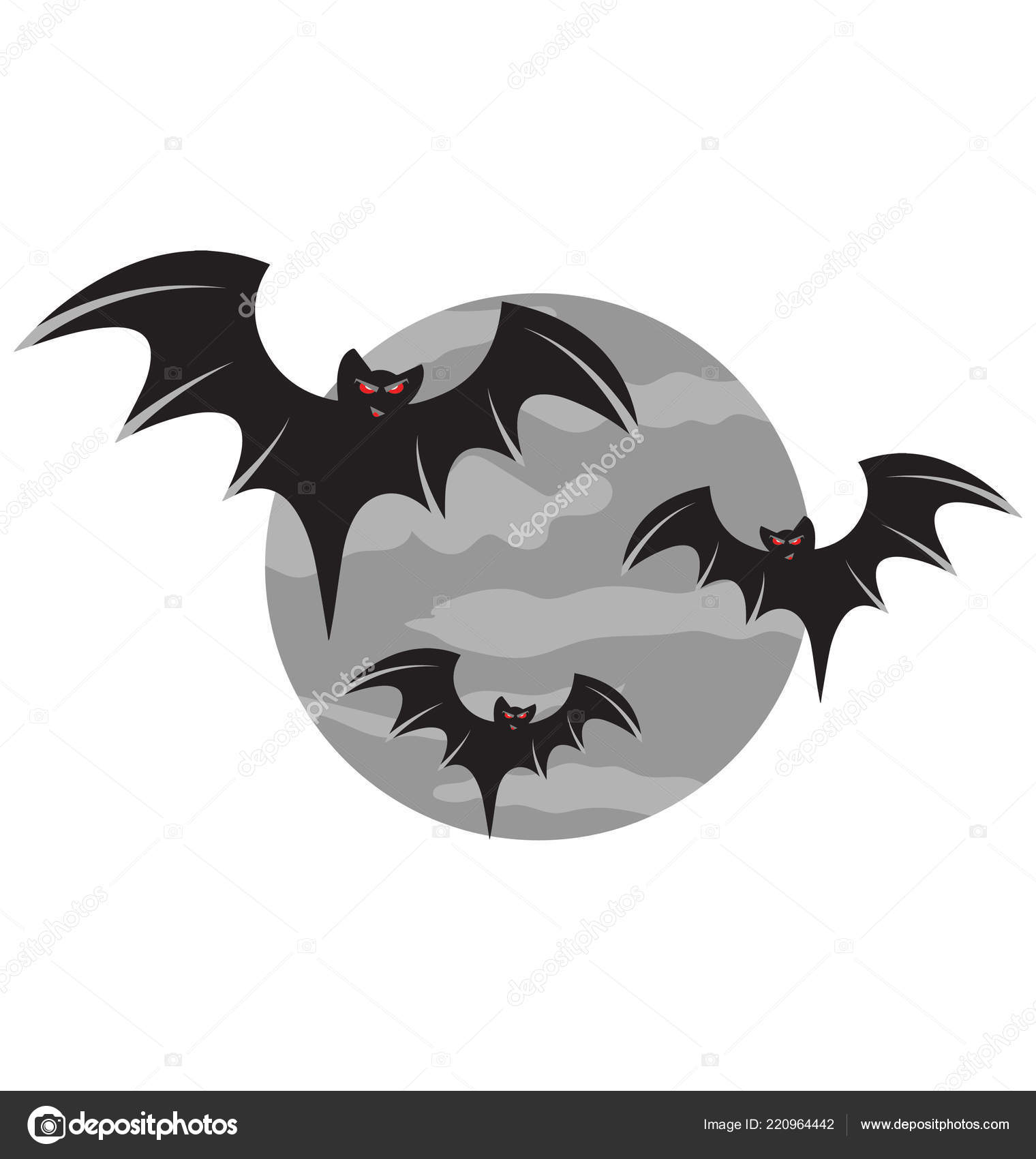 Uso Ilustración Color Aislado Murciélagos Halloween Icono Especial