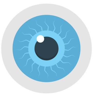 eye, human eye, Isolated Vector icon that can be easily modified or edit