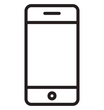 Mobile Isolated Line Vector Icon that can be easily modified or edited.