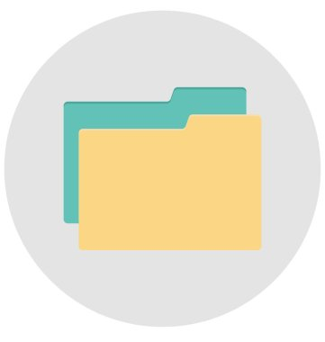 folder, data folder Isolated Vector icon that can be easily edit or modified