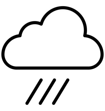 Cloud, rain Isolated Vector Icon that can be easily modified or edited