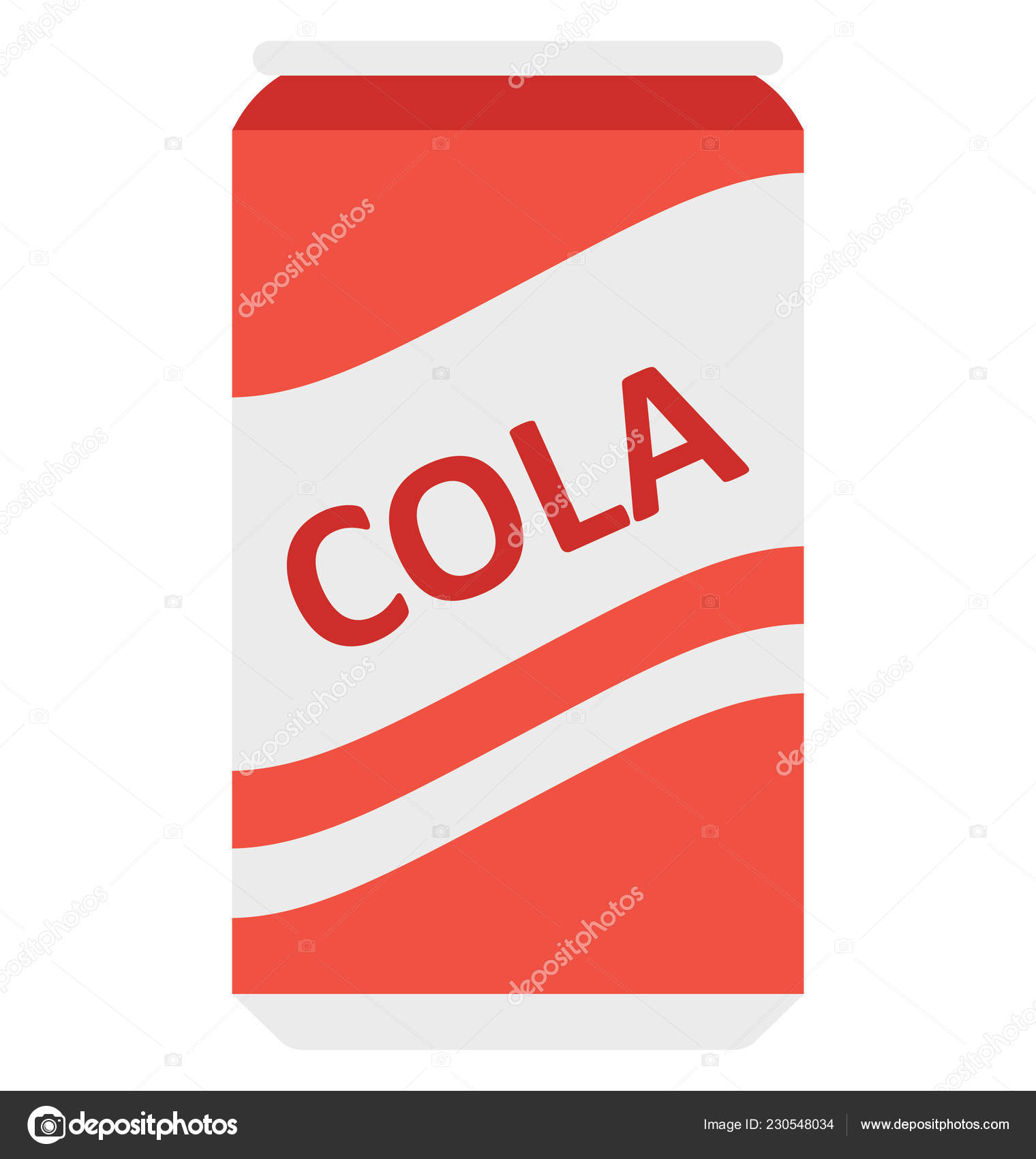 Cola Tin Tin Pack Vector Icon Can Easily Modified Edit