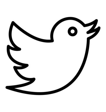 sparrow, twitter Isolated Vector Icon that can be easily modified or edit in any style