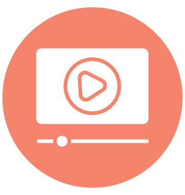 Internet video Isolated Vector Icon that can be easily modified or edit