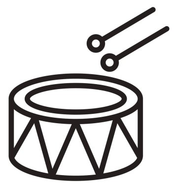 Childrens drum Vector icon which can be easily modified or edit