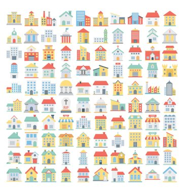 Building Vector Icons set that can be easily modified or edit