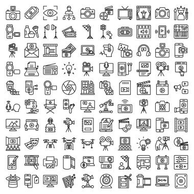 Video Shoot & Production Vector Icon set which can easily modify or edit