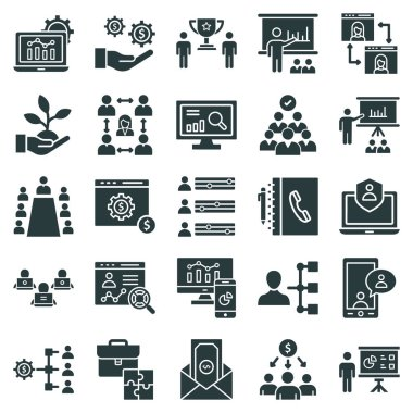 Office and Jobs Vector icons Set which can easily modify or edit