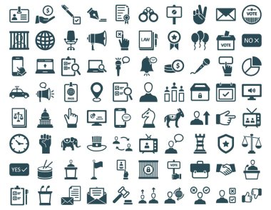 US Election Vector Icons set every single icons can be easily modified or edit
