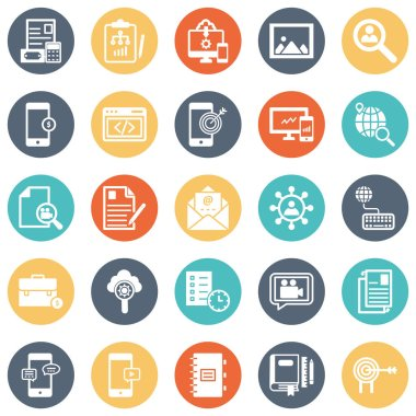 Digital System Vector icons Set every single icon can easily modify or edit