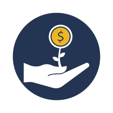 Money plant Vector Icon which can easily modify or edit
