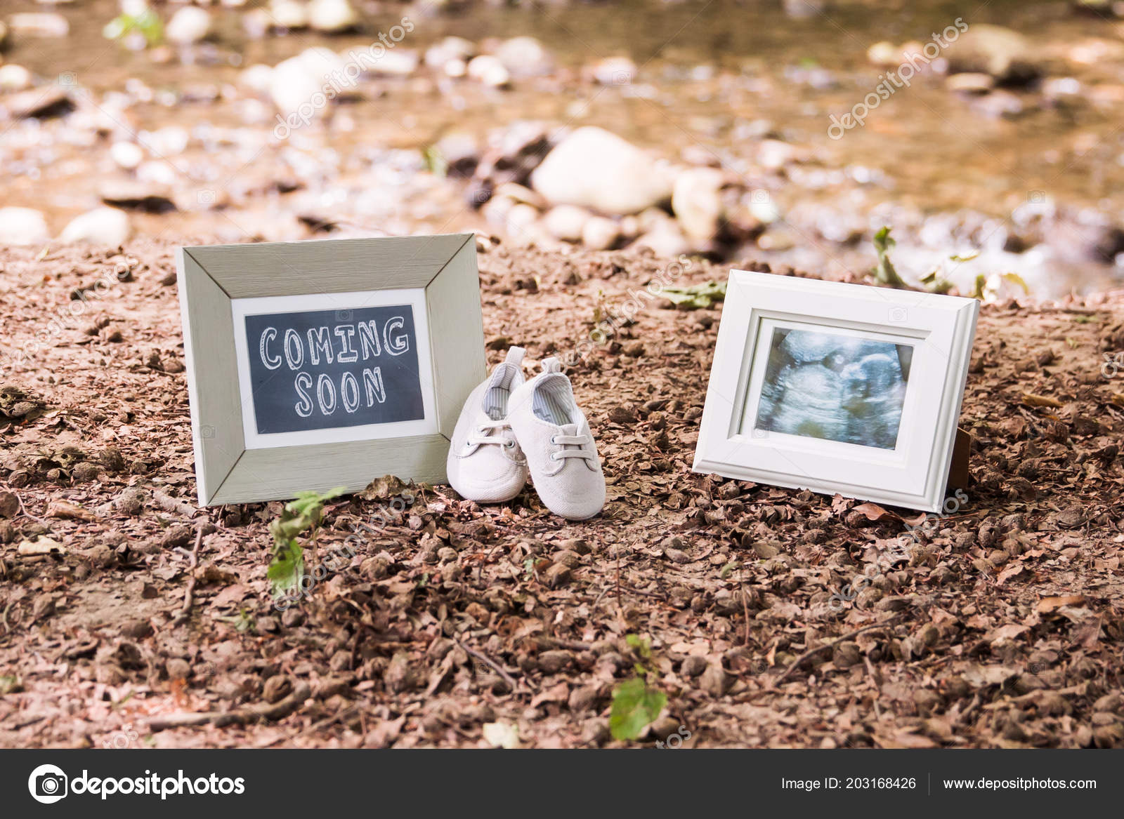 Baby Coming Soon Wallpaper Baby Ultrasound Coming Soon Photo Frames Baby Shoes Stock Photo C Angelina Cecchetto 203168426
