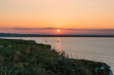 Sunset over Bournemouth and Old Harry Rocks Wildlife