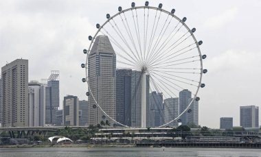 Singapore, Singapore- August 07, 2018: Singapore Flyer- it reaches the height of a 55-storey building, having a total height of 165 m
