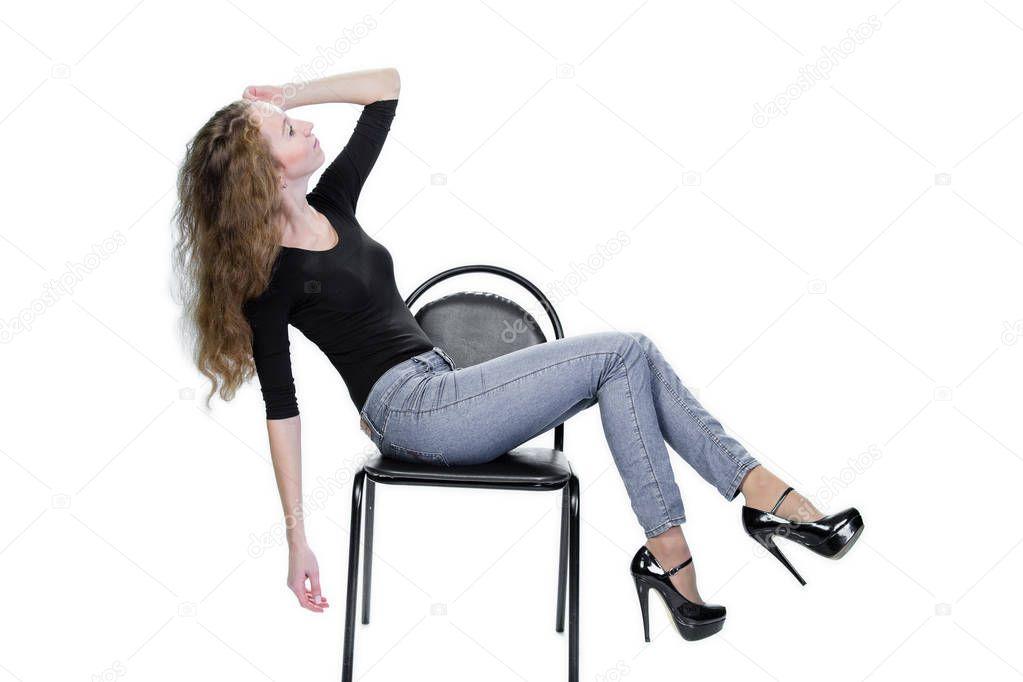Tan girl posing on chair — img 10