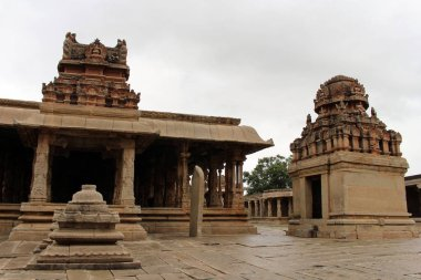 The sculptures around (probably) the temple of Sri Krishna in Hampi. Taken in India, August 2018.