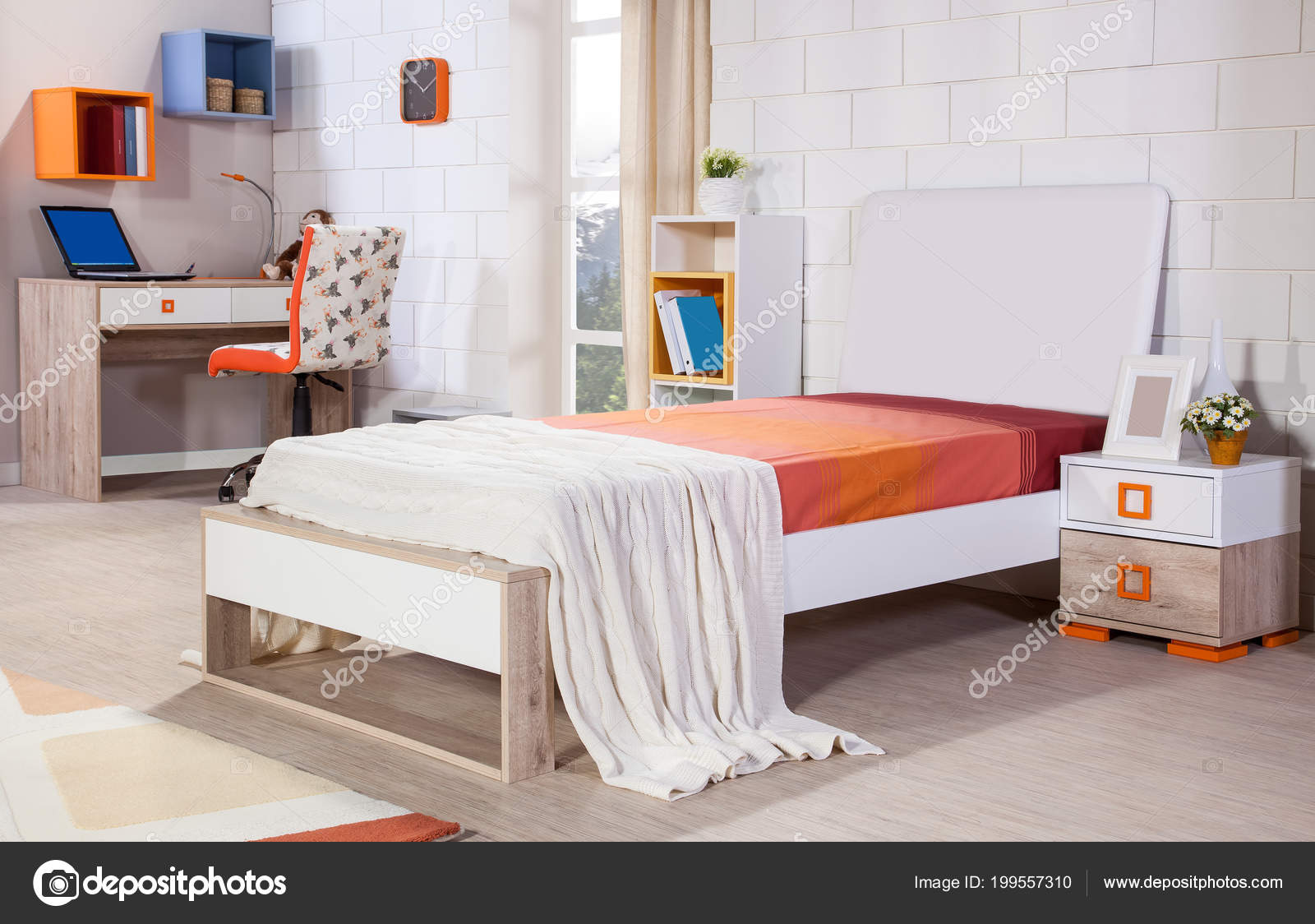 Children Room Interior Modern Style Stock Photo Saaras 199557310