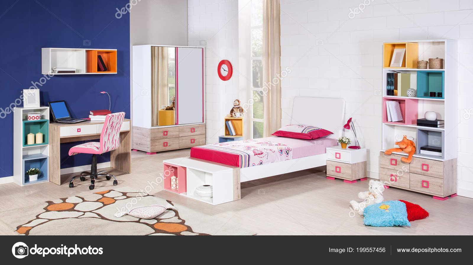 Children Room Interior Modern Style Stock Photo Saaras 199557456