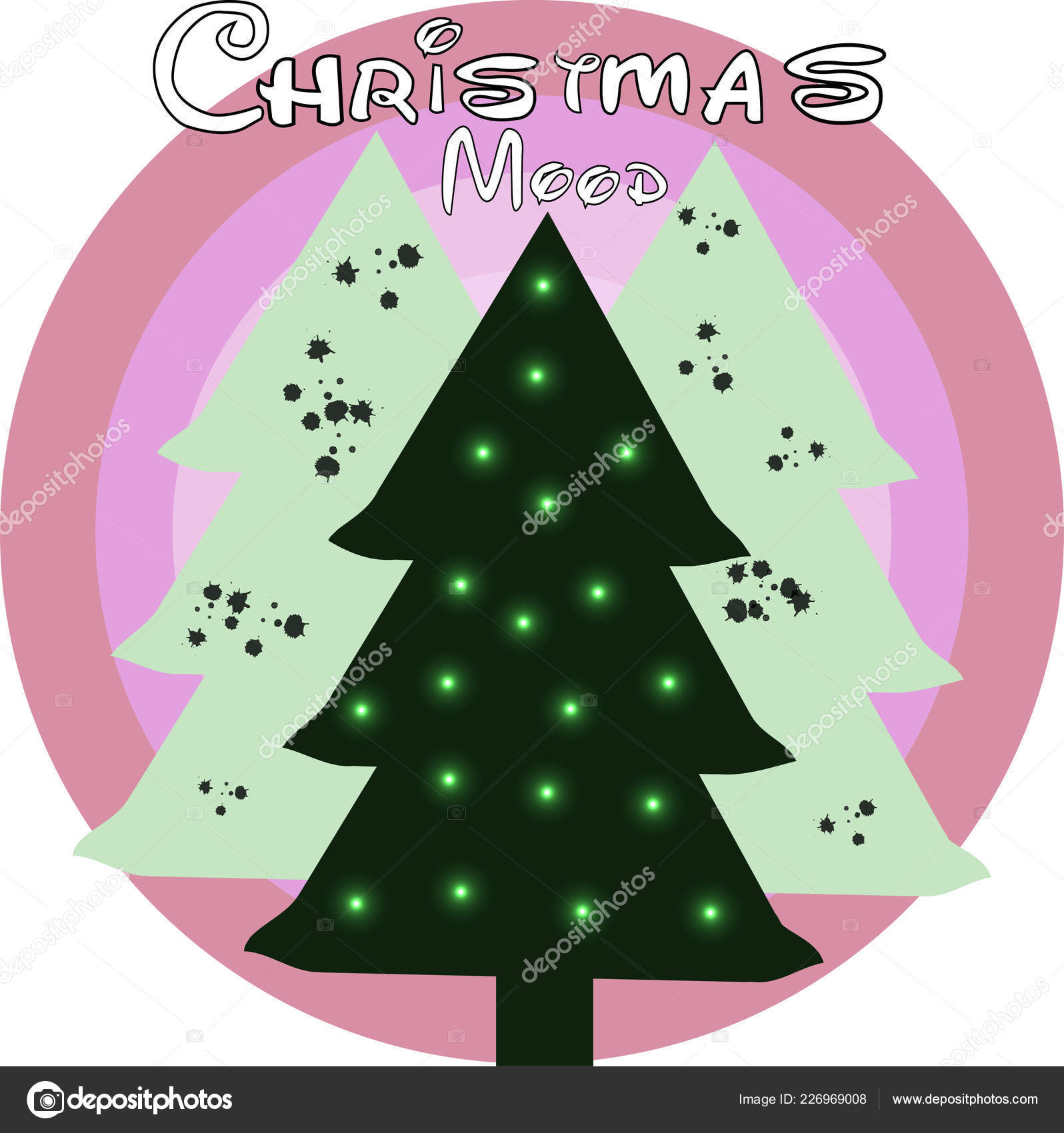 Christmas Card Tree Ornaments Xmas Card — Stock Vector © katsauri ...